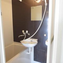 浴室 鏡のある部分のアクセント壁は4種類の色から選べます。