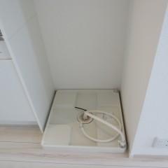 防水パン 洗濯機用の蛇口も一体となっているものです。