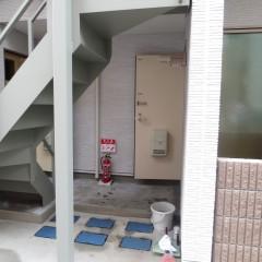 一階入り口 狭い土地を有効利用するためエントランスは設けておりません。