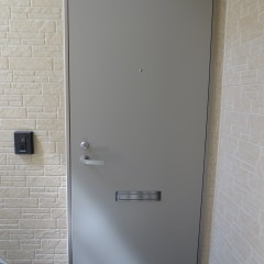 玄関ドア(シャイングレー色)