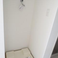 室内洗濯機置場 蛇口も最新式のものが使われています。