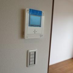 テレビモニター付きインターホン 標準で施工されます。