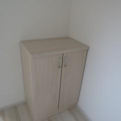 玄関収納箱 可動式で引っ越し後玄関部分に置くタイプになります。