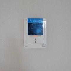 カラーモニター付きインターホン 標準で施工されます。(録画機能はオプション工事となります。)