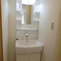 独立洗面台 今回は標準で施工されています。
