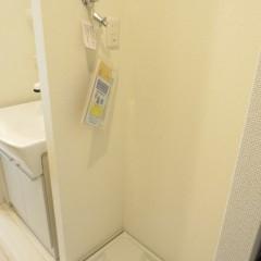 室内洗濯機置場 最新の蛇口を採用しています。