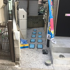 外構(プロパンガス・散水栓・野外コンセント等があります)
