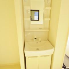 独立洗面台(部屋の広さによって標準で設置できます)