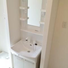 独立洗面台(部屋が広いと標準仕様です)