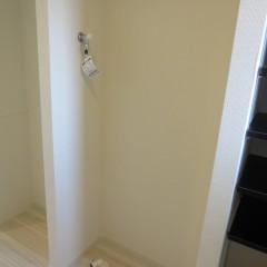 室内洗濯機置場 最新式の洗濯機用蛇口が使用されています。
